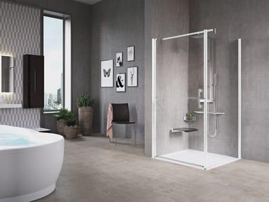Box doccia angolare con porta a battente FREE 1 | G+F