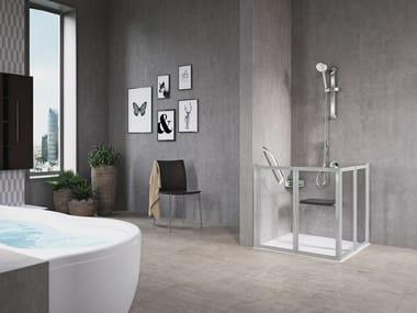 Box doccia angolare con porta a soffietto FREE 2 | A (VERSIONE BASSA)