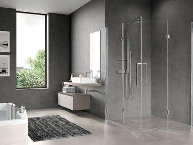 Box doccia angolare con porta a soffietto FREE 3 | 2AS
