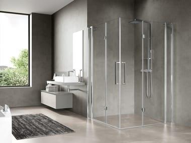 Box doccia angolare con porta a soffietto FREE 3 | 3AS
