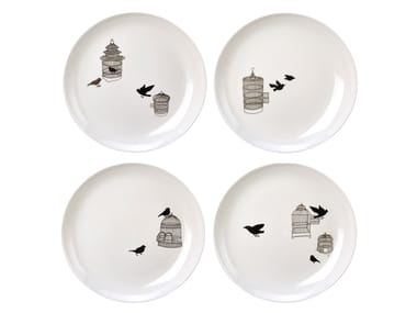 Porcelain plates set FREEDOM BIRDS | Plates set