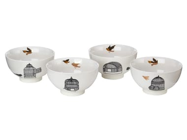 Porcelain serving bowls set FREEDOM BIRDS | Serving bowls set