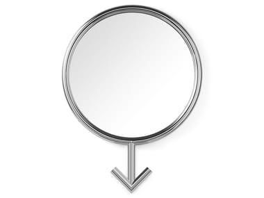 Framed wall-mounted steel mirror FREEDOM! MALE