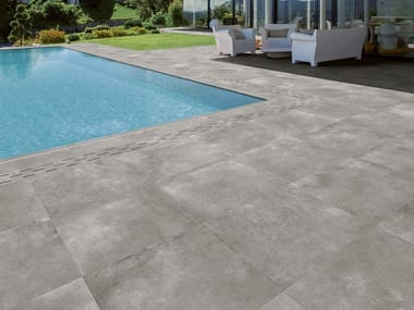 Full-body porcelain stoneware outdoor floor tiles with stone effect FREESPACE | Outdoor floor tiles