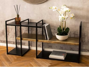 Open freestanding double-sided metal bookcase FREEWALL | Bookcase