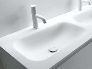 Ceramilux® washbasin with integrated countertop FRESH