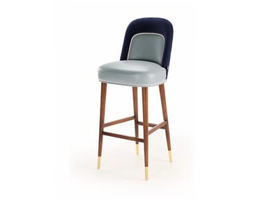 High stool with back FRIDA | Stool with back