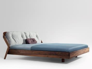 Lit en bois avec tête rembourrée FRIDAY NIGHT