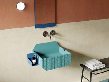Wall-mounted Livingtec® washbasin FRIEZE ONE LOW