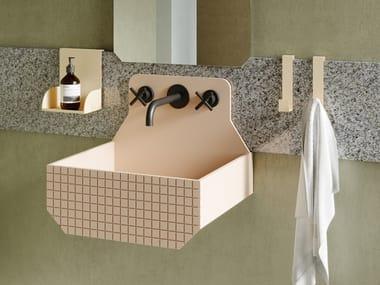 Wall-mounted Livingtec® washbasin FRIEZE ONE HIGH
