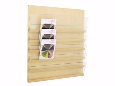 Expositor de madeira para folhetos FRONT | Expositor para folhetos