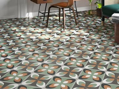 Porcelain stoneware wall/floor tiles with encaustic effect FUN PLAY 02