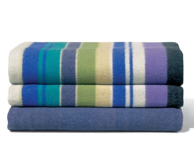 Striped wool blanket FUNNY