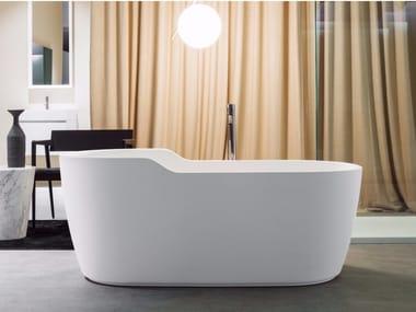Vasca da bagno centro stanza in Cristalplant® FUNNY WEST