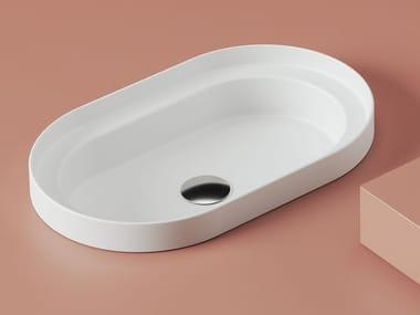 Countertop oval ceramic washbasin FUORI SCALA | Oval washbasin