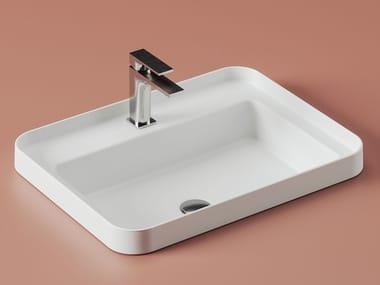 Countertop rectangular ceramic washbasin FUORI SCALA | Rectangular washbasin