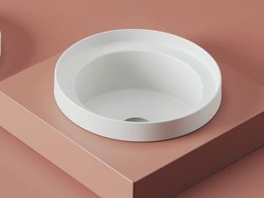 Countertop round ceramic washbasin FUORI SCALA | Washbasin