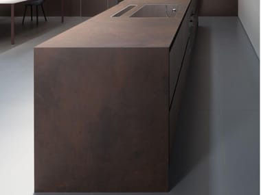 Ceramic kitchen worktop FURNISHING - OSSIDO