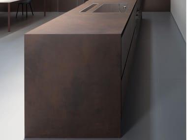 Lastra ceramica per piani orizzontali FURNISHING - OSSIDO