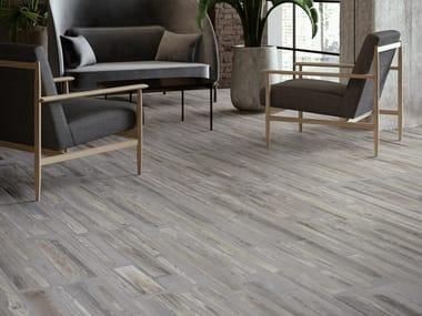 Pavimento/rivestimento in gres porcellanato effetto legno FUSIONART GREY