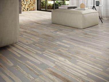 Pavimento/rivestimento in gres porcellanato effetto legno FUSIONART NATURAL