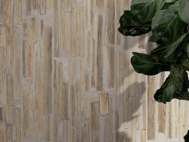 Pavimento/rivestimento in gres porcellanato effetto legno FUSIONART SAND