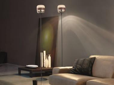 Direct-indirect light blown glass floor lamp FUTURA PT