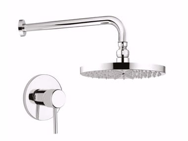 Single handle shower mixer with overhead shower FUTURO - F6515WB-25