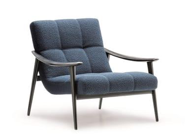 Upholstered armchair with armrests FYNN | Armchair