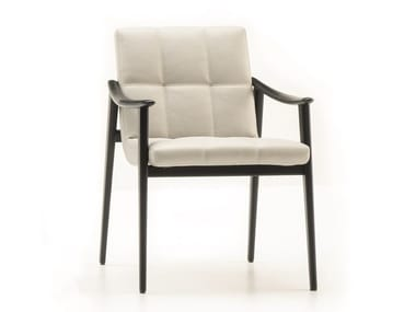 Upholstered chair with armrests FYNN | Chair