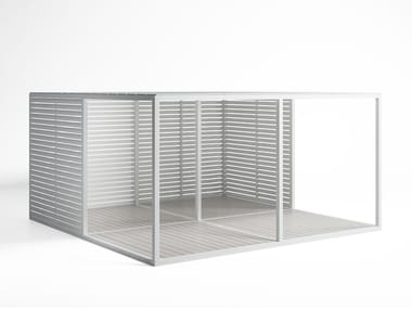 Adjustable aluminium solar shading Fixed Blades Sidewalls