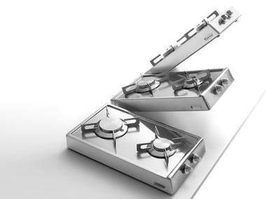 Piano cottura ribaltabile in acciaio inox classe A Piano cottura ribaltabile