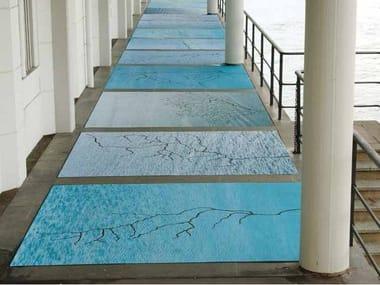 Synthetic material wall/floor tiles Floor covering