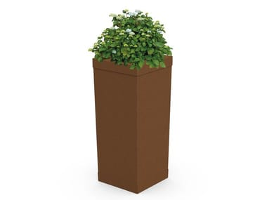 High steel plant pot Flower pot