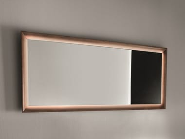 Rectangular framed mirror with integrated lighting Framed mirror