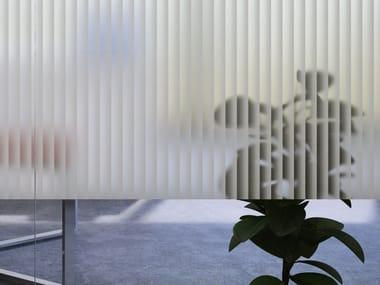 Pellicola per vetri adesiva decorativa LINEE VERTICALI