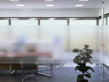 Pellicola per vetri adesiva decorativa SQUARE