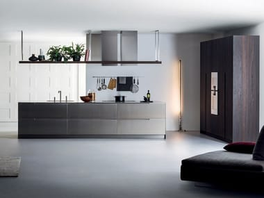 Stainless steel kitchen with island G180 | Kitchen