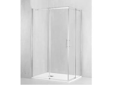 Box doccia angolare con porta scorrevole GA-ASC+GA-ASC