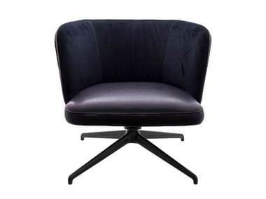 Upholstered easy chair with 4-spoke base GAIA LINE LOUNGE | Easy chair with 4-spoke base