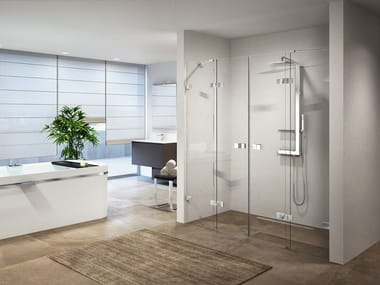 Niche shower cabin with hinged door GALA 2A
