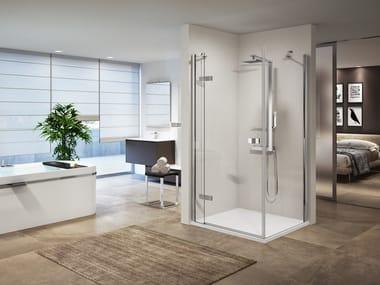Box doccia angolare con porta a battente GALA G+F
