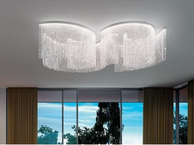 Lampada da soffitto a LED in cristallo con dimmer GALASSIA T2 SNG