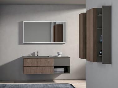 Wooden Bathroom Furniture Set Galaxy 03, Real Wood Bathroom Furniture
