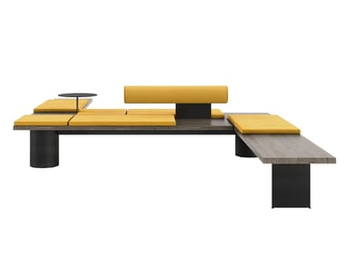 Modular bench with back GALLERIA