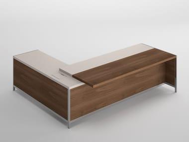 Wood veneer executive desk GALLERY   L-shaped office desk