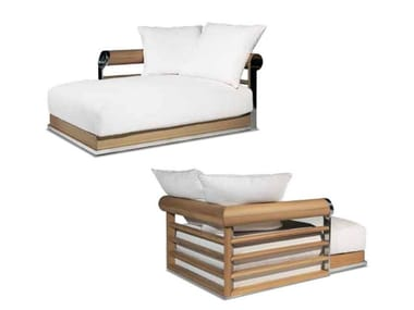 Upholstered fabric day bed with removable cover GALLOWAY | Day bed