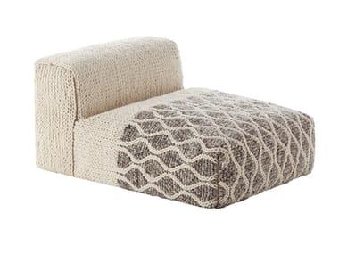 Wool armchair GAN - MANGAS SPACE RHOMBUS MODULE IVORY