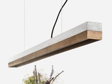 LED cable-mounted walnut pendant lamp GANTLIGHTS - [C1] WALNUT