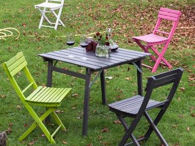 Folding beech garden table GARDEN